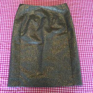 New York & Company ⭐️ Metallic Gold Pencil Skirt